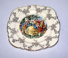 Vintage Taylor Smith TS & T Baroque French Dance Plate