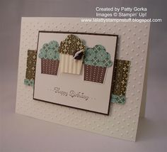 STampin Up cupcake punch card