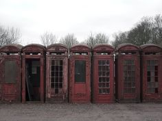Deserted Places: UK's red telephone box graveyard