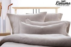 100% Linen Bedcover DONAU Gray various sizes