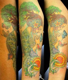 mother earth with tree Color Tattoo, I Tattoo, Mother Earth Tattoo, Tattoo Inspiration, Mother Nature, Tatting, Ink, My Style, Tattoo Ideas