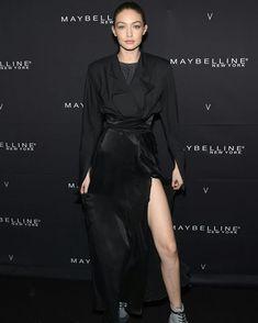 Gigi Hadid at Maybelline x V Magazine party in NYC.