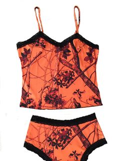 Southern Sisters Designs - Huntress Orange Camisole and Boy Shorts, $25.95 (http://www.southernsistersdesigns.com/huntress-orange-camisole-and-boy-shorts/)