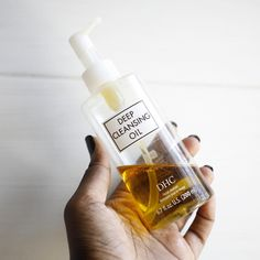 """The Deep Cleansing Oil from DHC Skincare is just a must-have. My skin just feels so smooth after I rinse it off. I'm more of a balm cleanser user but this is the only cleansing oil you will catch me using again and again. You just need 1-2 pumps of this olive-oil based cleanser to remove makeup and sunscreen effortlessly. And unlike some oils, it will leave ZERO oily residue after you wash it off... All skin types can benefit from having this in their routine.""  - @ skinwitheshi Dry Face, Wash Your Face, Dhc Skincare, Oil Based Cleanser, Makeup Brush Cleaner, Deep, Waterproof Mascara, Cleansing Oil, Dry Hands"
