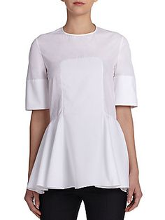 Alexander McQueen Paneled Pique Blouse Saks Fifth Avenue, All About Fashion, Alexander Mcqueen, Tunic Tops, Clothes For Women, Blouse, Shirts, Shopping, Style