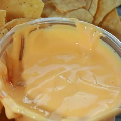 This homemade cheese dip goes great with nachos or any savory dipping chip.. Homemade Nacho Cheese Dip Recipe from Grandmothers Kitchen.