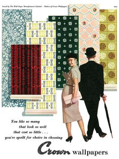 An eye-catching array of fantastic mid-50s wallpaper