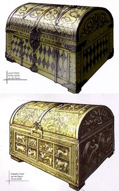 Lucy and Edmund's chests