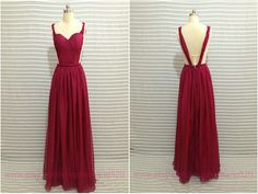 Sexy long evening dressbackless long formal by Loveand520 on Etsy