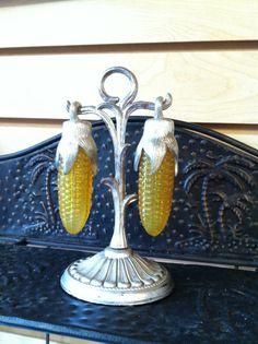 Vintage Salt & Pepper Corn Husk Set by AtticRecycles on Etsy