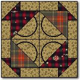 Basket quilt block.  This would be beautiful in many different colors.
