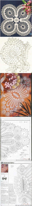 Bruges lace. napkins choice...♥ Deniz ♥ Irish Crochet Patterns, Cross Patterns, Crochet Diagram, Doily Patterns, Crochet Motif, Crochet Designs, Thread Crochet, Lace Knitting, Crochet Stitches