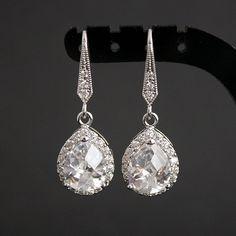 Mariage bijoux boucles d'oreilles mariée luxe par poetryjewelry, $32.00