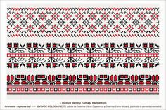 Semne Cusute: Romanian traditional motifs - MOLDOVA - Iasi, Aron... Folk Embroidery, Cross Stitch Embroidery, Embroidery Patterns, Stitch Patterns, Loom Beading, Beading Patterns, Moldova, Stitch 2, Knitting Charts