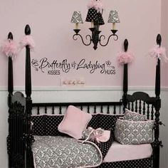 Wall decal  nursery girls room Butterfly Kisses by bushcreative, $10.00