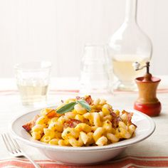 This is a quick and simple recipe with amazing ingredients – butternut squash, bacon, pasta, and Pecorino cheese; what's not to love?
