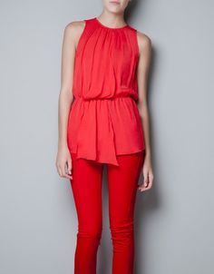 TOP WITH ELASTICATED WAIST - Shirts - Woman - New collection - ZARA