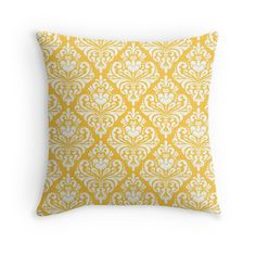 damask,yellow,white,vintage,floral,pattern,elegant,chic,victorian,modern,trendy,girly