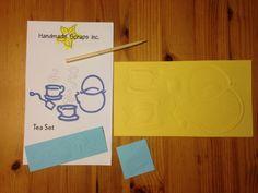 Tea Set Die Cut on Etsy, $2.25