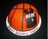 Miami Heat Basketball Cake — Basketball / NBA