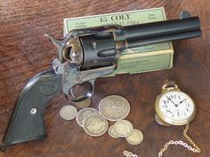 ❦ Single Action Army revolver in .45 long colt.This revolver revolutionized the world of firearms as we know it.