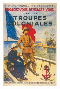 engagement militaire dans les troupes coloniales-....réépinglé par Maurie Daboux .•*`*•. ❥