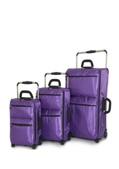 IT LUGGAGE Purple 3-Piece World's Lightest Luggage Set