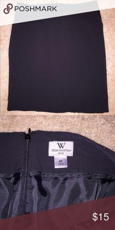 Black pencil skirt Black Worthington pencil skirt size 8P , worn few times Worthington Skirts Pencil