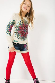 Desigual Girls' knitted sweater . Our collection wants to play, fancy joining in?