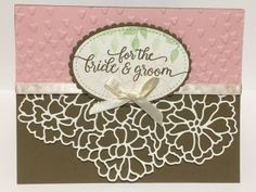 So in Love Stamp Set; So Detailed Thinlits Dies; 2017 Stampin' Up Occasions Catalog; Wedding Card