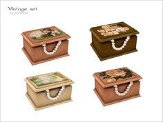 Wooden casket with vintage pictureFound in TSR Category 'Sims 4 Clutter'