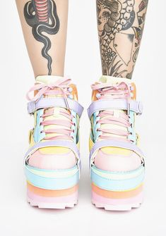 Network footwear due to the category Ladies, find lovely Trainers. Chunky Sneakers, Wedge Sneakers, High Top Sneakers, Black Platform Sandals, Platform Sneakers, Rainbow Sneakers, Camo Boots, Mermaid Sequin, Rainbow Print