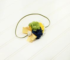 Lemon Lime Zest - fun headband in navy blue, yellow, apple green and white (RTS) by SoTweetDesigns on Etsy