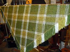 Tangible Daydreams: The color changes on a triloom weaving