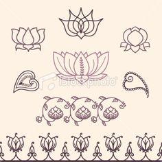 Fresh Air Lotus Collection Royalty Free Stock Vector Art Illustration