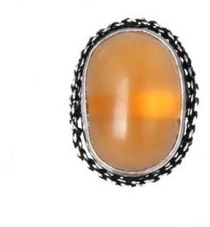 Waama Jewels Traditional & Ethnic Silver Plated Finger Ring Agate Stone For Women & Girls( Adjustable ) Brass Agate Silver Plated Ring