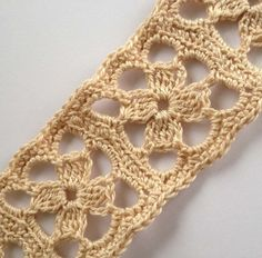 Crochet Scarflette Lariat in Natural White Designed and Handmade by Me.