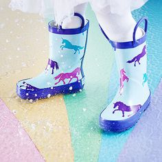 Timbee creates cute boots for little ones who love the rain. Whether they're jumping in puddles or dashing to school, this line of fun footwear will keep them warm and dry.