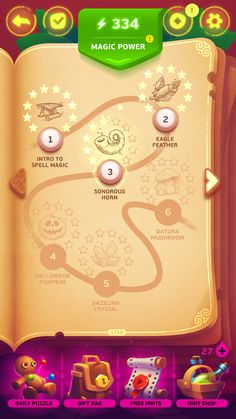 Under a spell - game ui - map