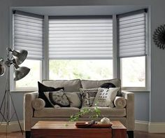Image result for bay window honeycomb blinds ideas