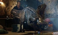 It's been four years since theme park and luxury resort Jurassic World was destroyed. Watch the Jurassic World: Fallen Kingdom final trailer! Jurassic World: Fallen Kingdom opens June Sci Fi Movies, New Movies, Horror Movies, Blue Jurassic World, Jurassic World Fallen Kingdom, Michael Crichton, Kingdom Movie, Trailer Peliculas, World Wallpaper
