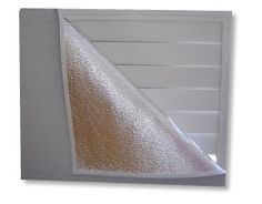 Whole house attic fan cover, reduces air-leakage through the attic fan, saving heating and cooling costs