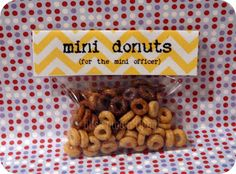cops and robbers party • mini donut favors! yes!