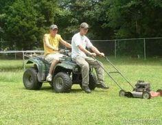 Redneck push lawnmower
