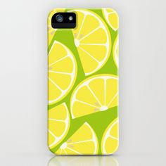 """""""Citrus: Lemon"""" iPhone Case by Amy Newhouse on Society6."""
