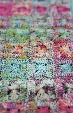 Crocheted by Marléne Scheepers-Fourie using handpainted bamboo yarn