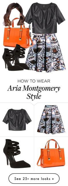 """""""Aria Montgomery inspired outfit"""" by liarsstyle on Polyvore featuring H&M, Dasein, Wet Seal, Accessorize, Work and Semi"""
