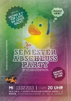 Flyer - Semesterabschlussparty