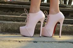 Cute....White lace heels