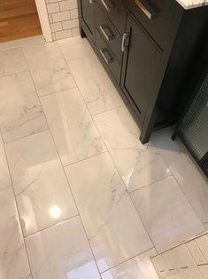 12x24 tile polished tile marble look #Bathroomfloor